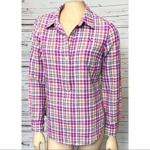 Vineyard Vines Women's Plaid Shirt Size 4